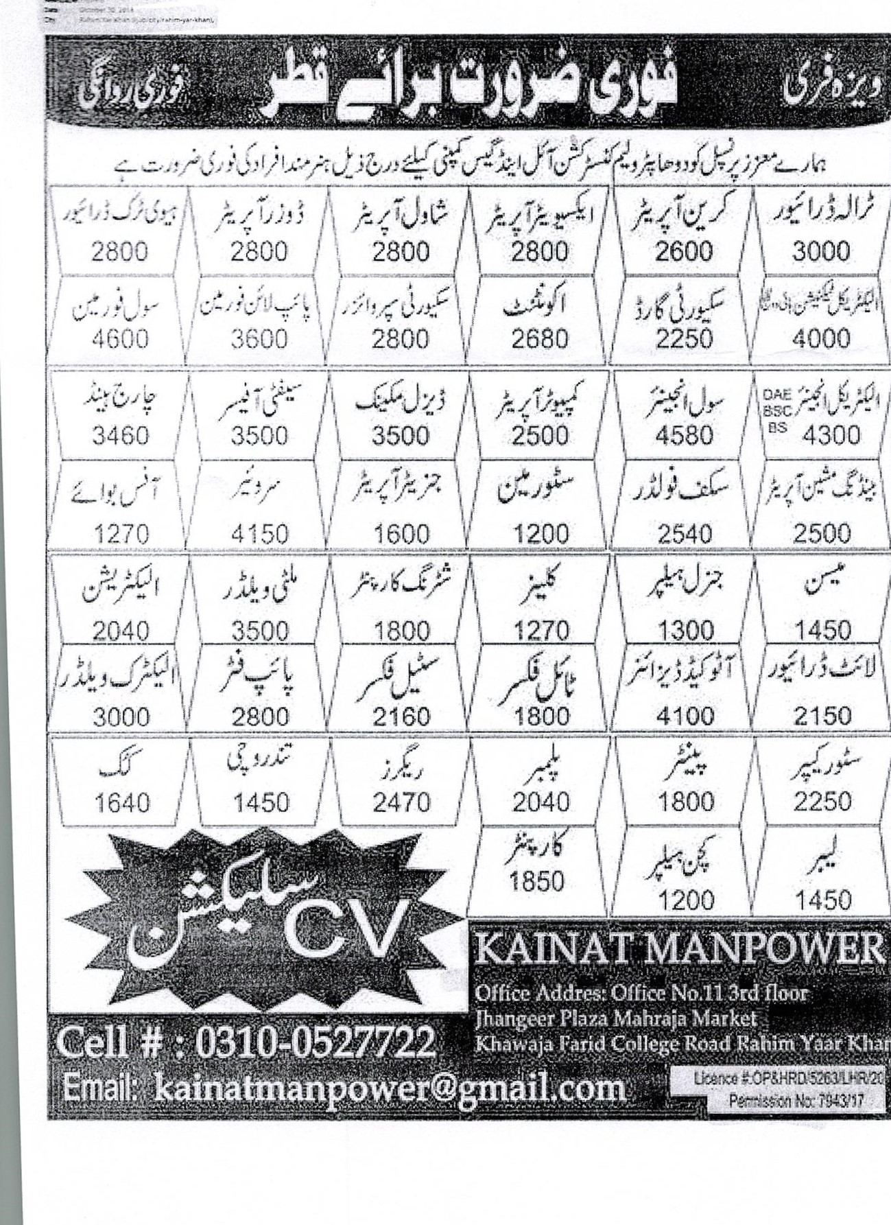 Illegal Advertisement/Recruitment Published in Express